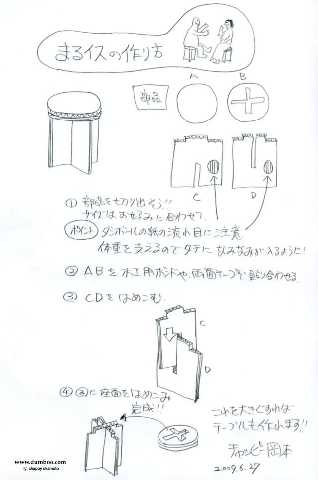 ダンボール家具の作り方:椅子&テーブル編